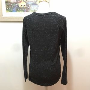 SO Tops - SO Black Heathered Pullover Tee
